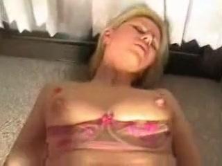 Hawt blonds taut anal opening receives jism filled