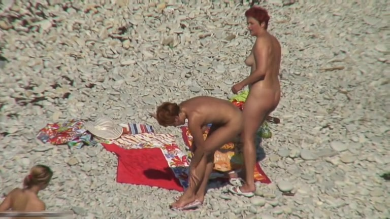 Two mature sluts naked on a beach Wife full body massage nude