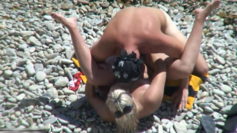 A guy nailed his slut on a beach Pocka Dot Bikini Girl