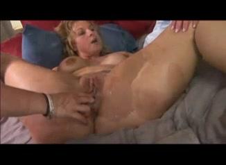 Moms bed on naked porn pose