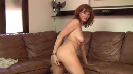 Mature Solo Busty redhead horny black