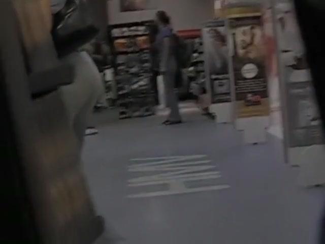 Non-nude voyeur video of sexy girls walking around the mall