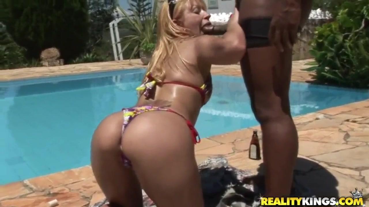 Jbrown fucks Juliane Ferrari by the pool men with big dicks
