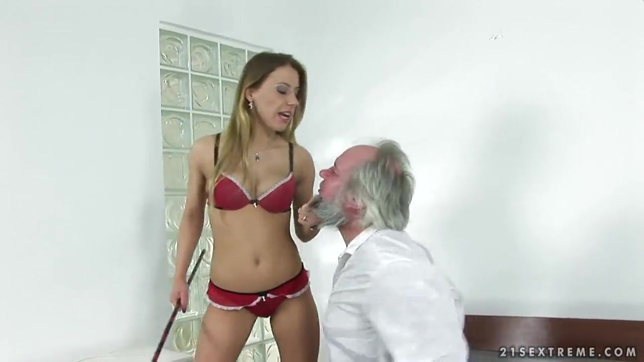 Nikky Thorne totally tramples an elderly man Cuckhold bbc creampie homemade