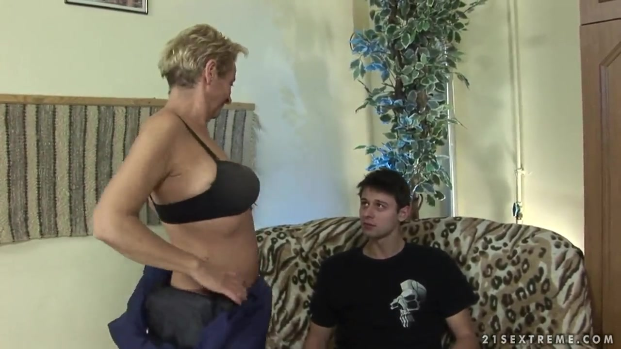 Blonde granny Autumn Leaf entertains with young boy Cincinnati singles