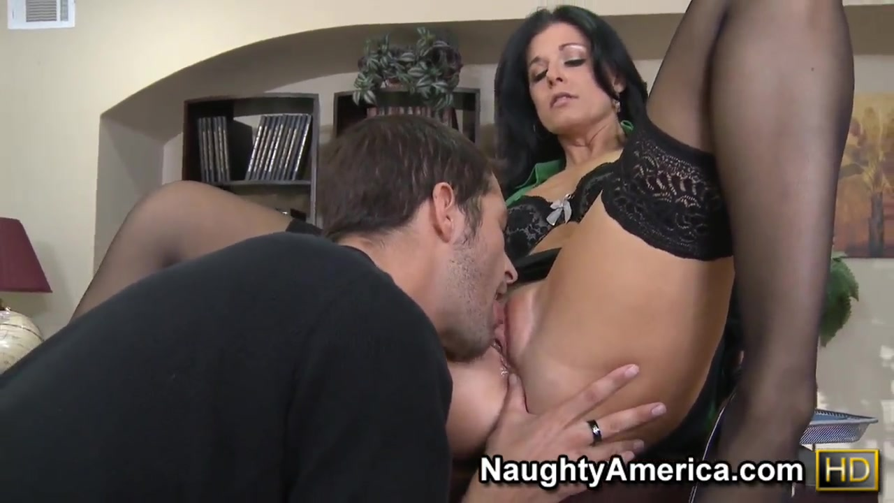 Rough fuck of chic milf India Summer in fancy black stockings and Kris Slater Video women having sex with men