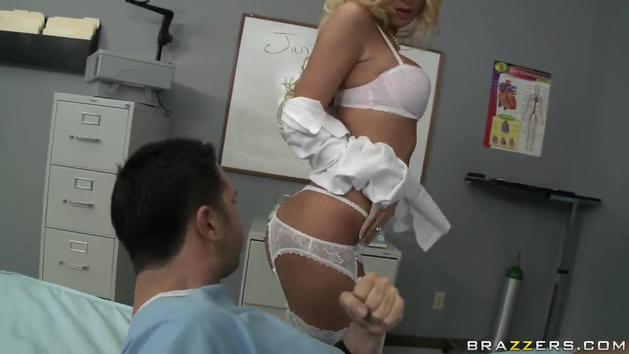 Ill Keiran Lee gets his treatment from hot doctor Riley Evans Vintage french country kitchens