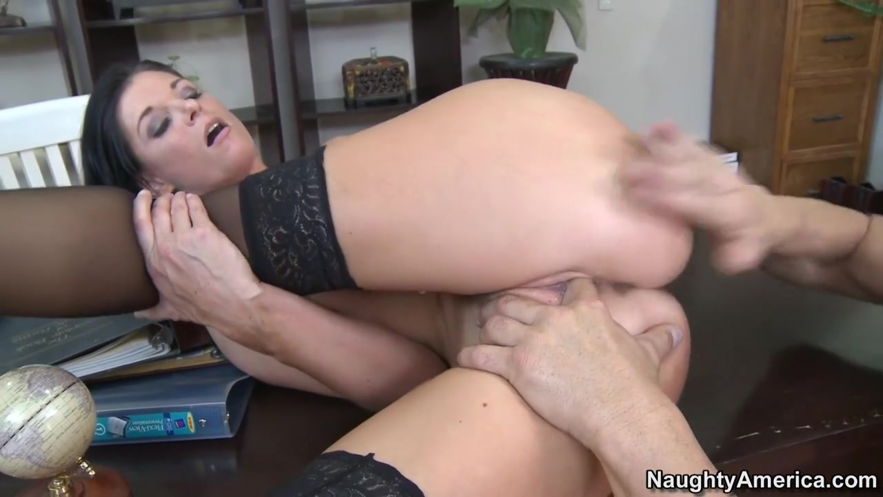 India Summer & Billy Glide in Naughty Office Prego slut riding cock