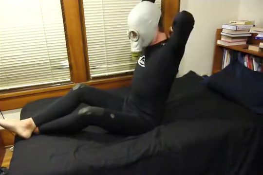 Jerk off in wetsuit, butts, motorcycle gloves, and gasmask Boobs garl