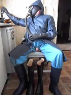 The delights of wearing rubber. big tits wet top