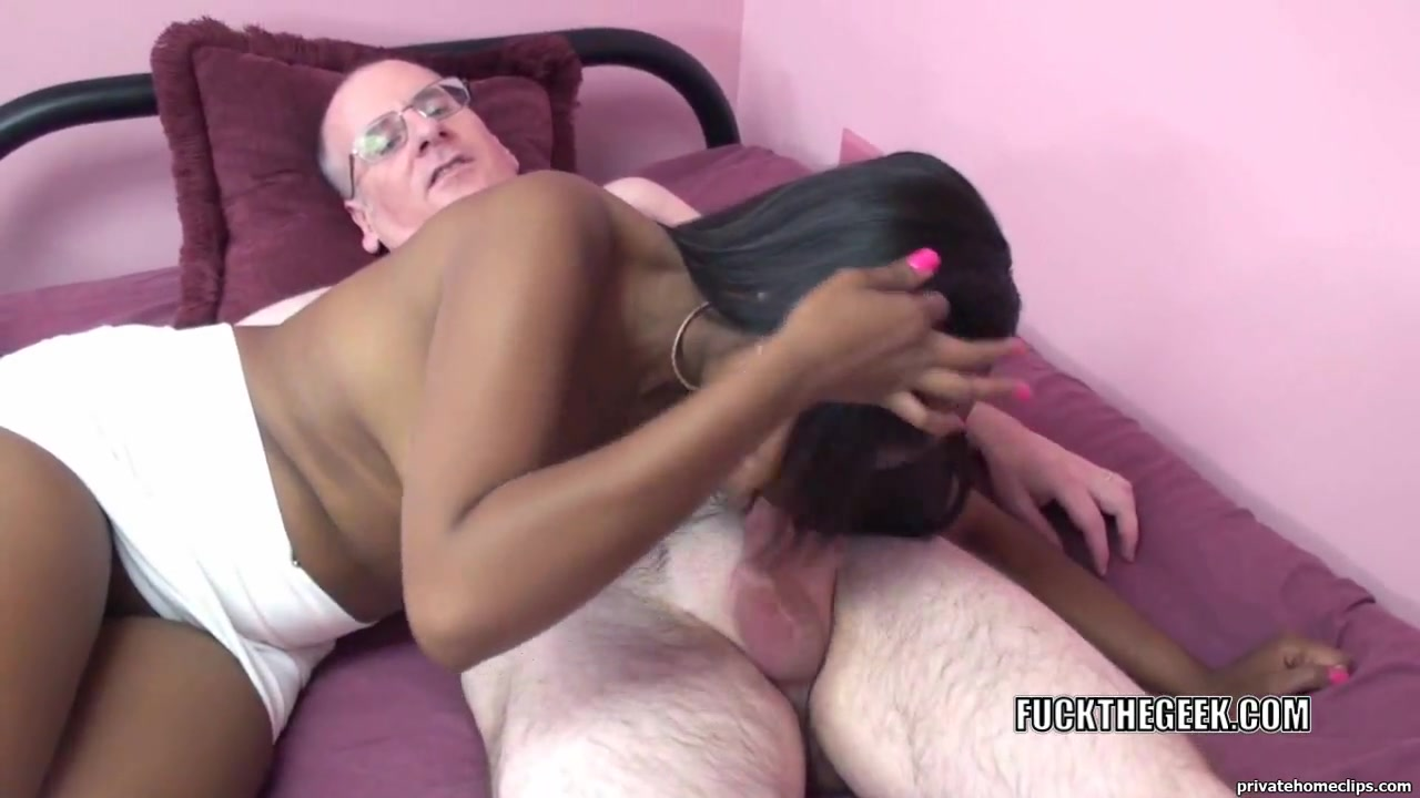 Dark coed Nikki Ford is getting drilled by a favourable geek