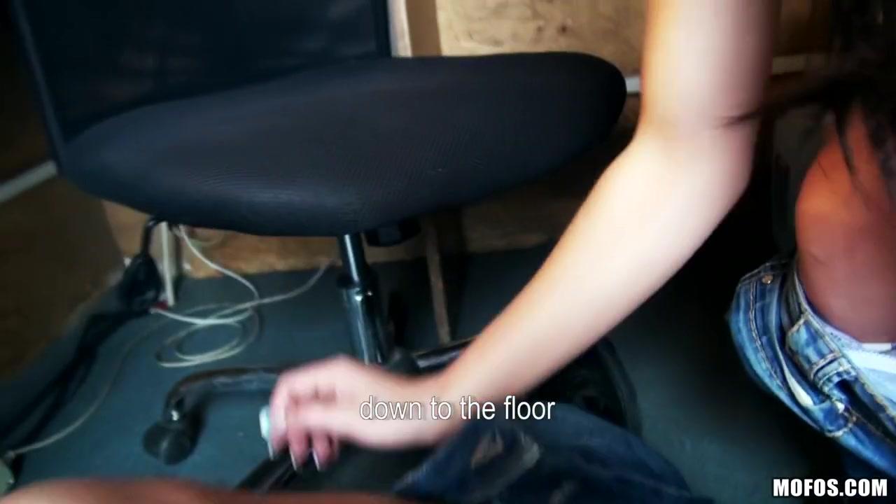 Interracial porn girl tries to run