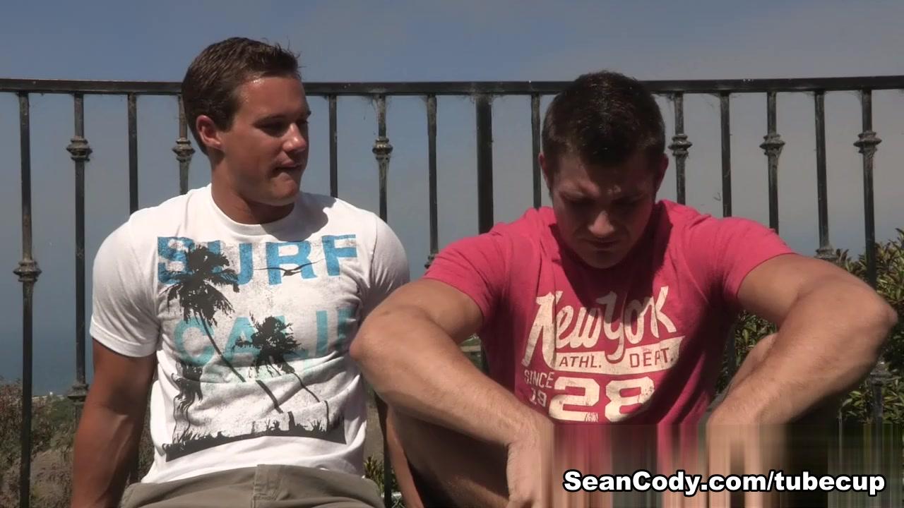Sean Cody Clip: Coleman & Aidan Jacking to big titty milf porn