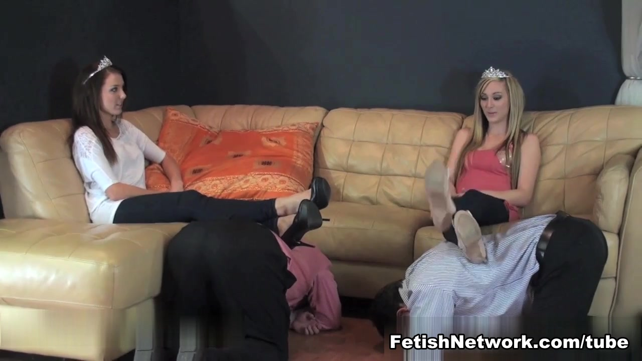 Two babes and two men in femdom action