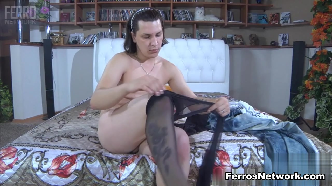 TryPantyhose Video: Jacob and Silvester Lesbian Anal POV