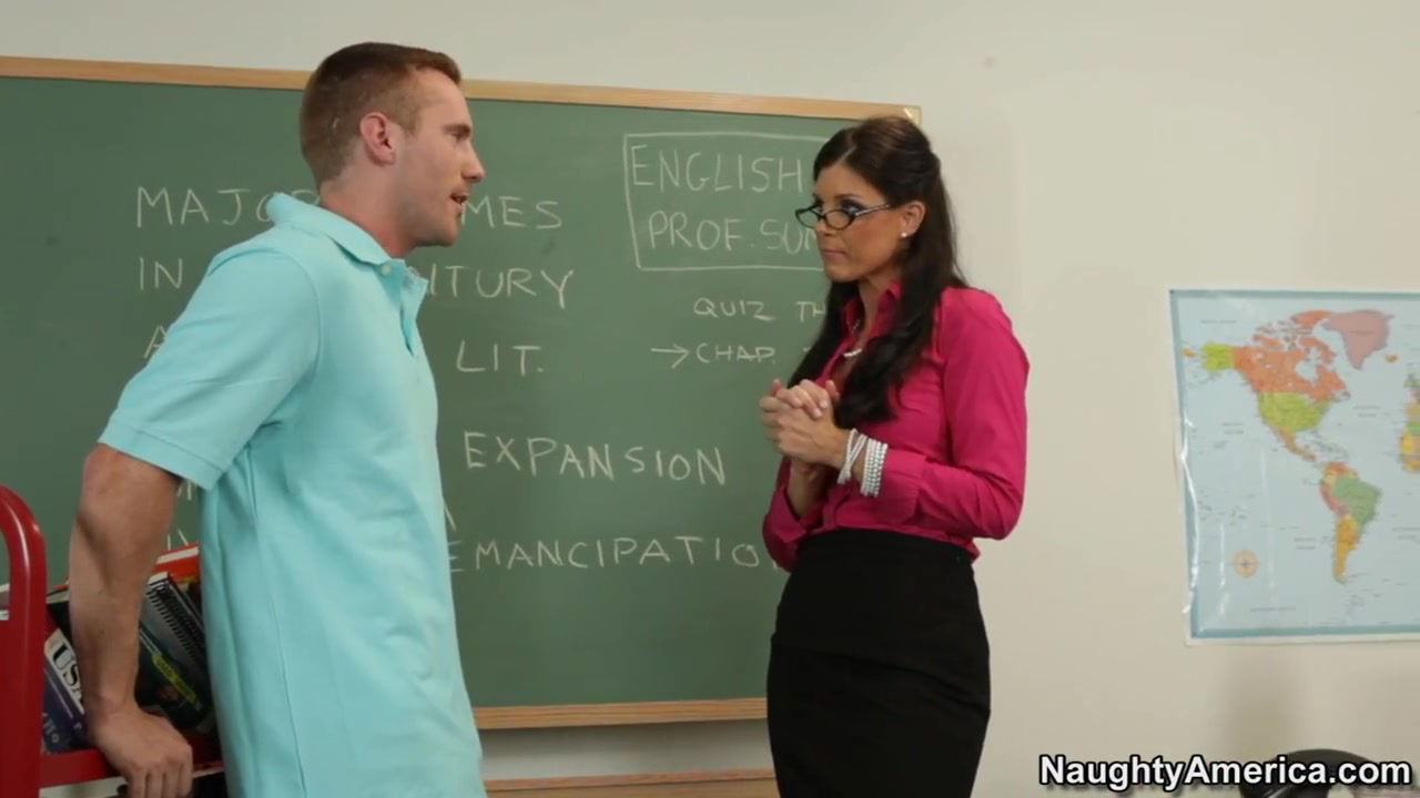 India Summer & Ryan Blaze in My First Sex Teacher Hot brunette masturbating pussy