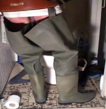 nlboots - rubber boots baleno waders corduroy WC two gay guys having sex