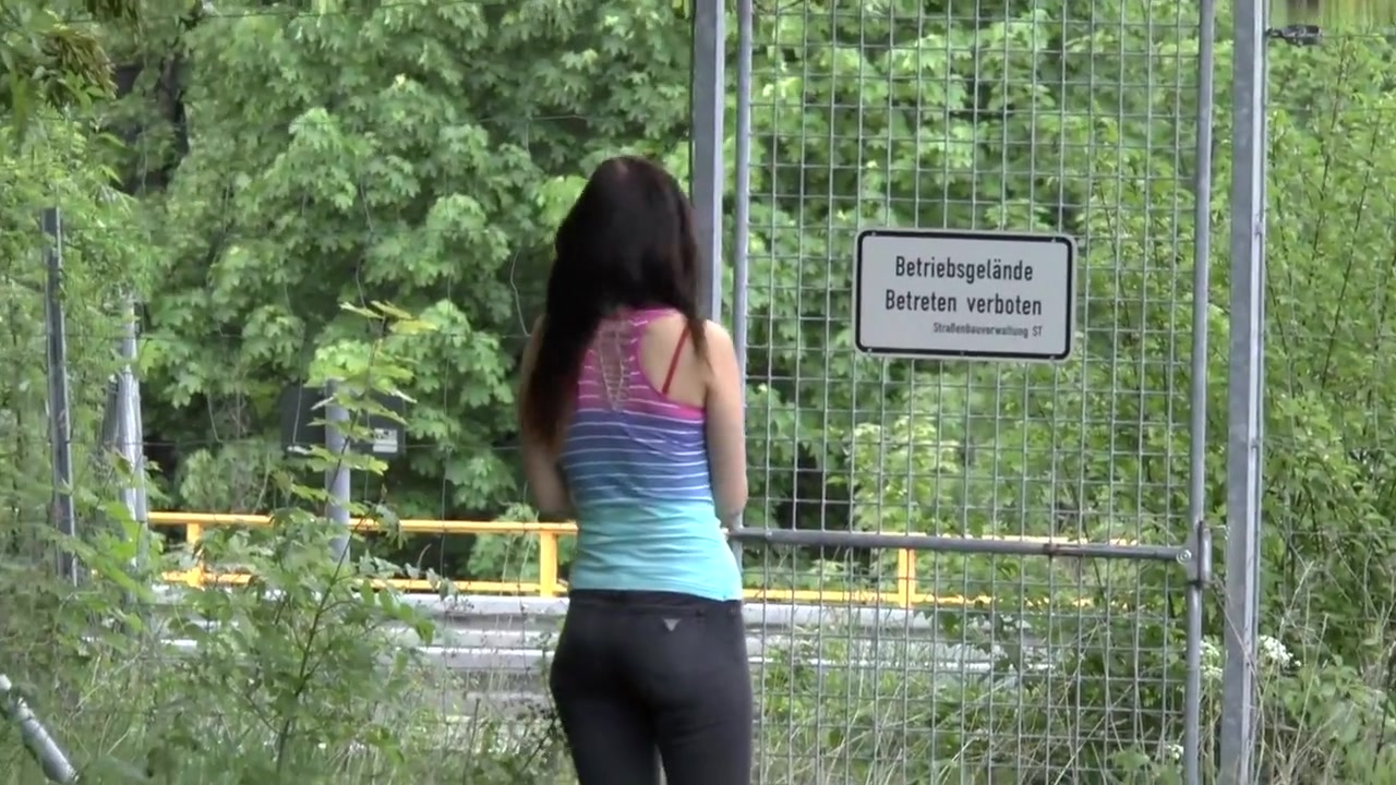 Juvenile-Devotion - Public Sex on the Highway! - HD Hot blonde perfect tits adult model overalls