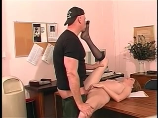 Ideal youthful hairless muff brunette hair receives her butthole screwed on office desk Uniform girls solo asshole pics