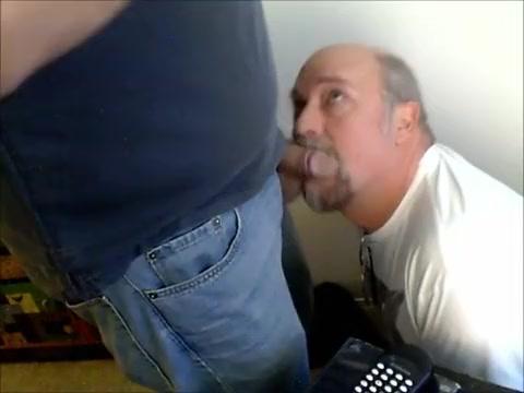 Cheerful Bob paid to swallow cum