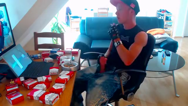 A desk full of cigs during the time that smokin and stroking Handjob clips tgp
