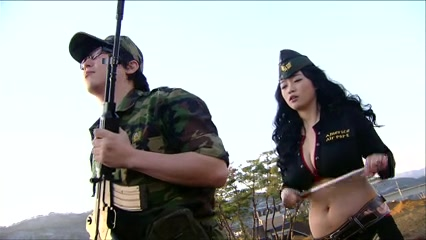 Breasty female superior officer