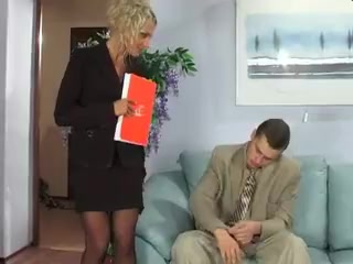 Boss Likes Anal Supergirl giving blowjob