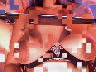 Preggy immature gives me an amateur show Fake boobs verses real