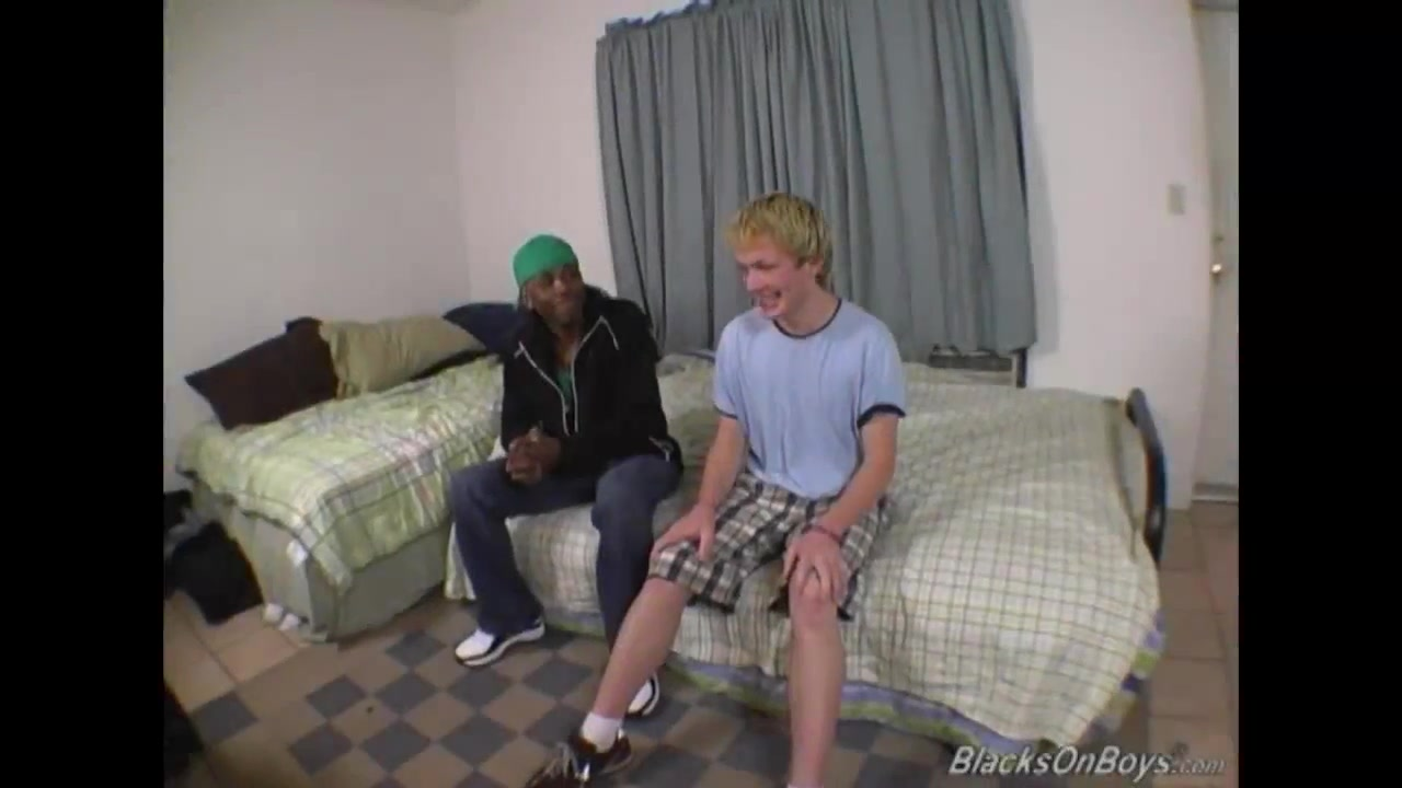 Blonde guy gets banged by a black stud Lesian porn roomats