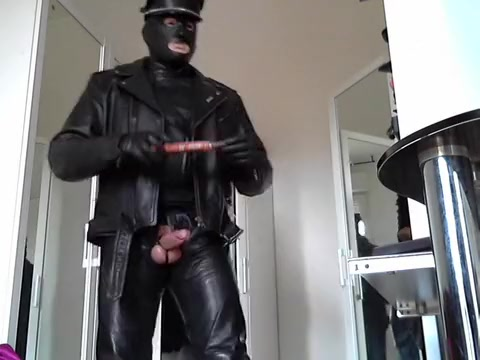 leather biker rubber mask and plug anal Watch mrs kinky cum