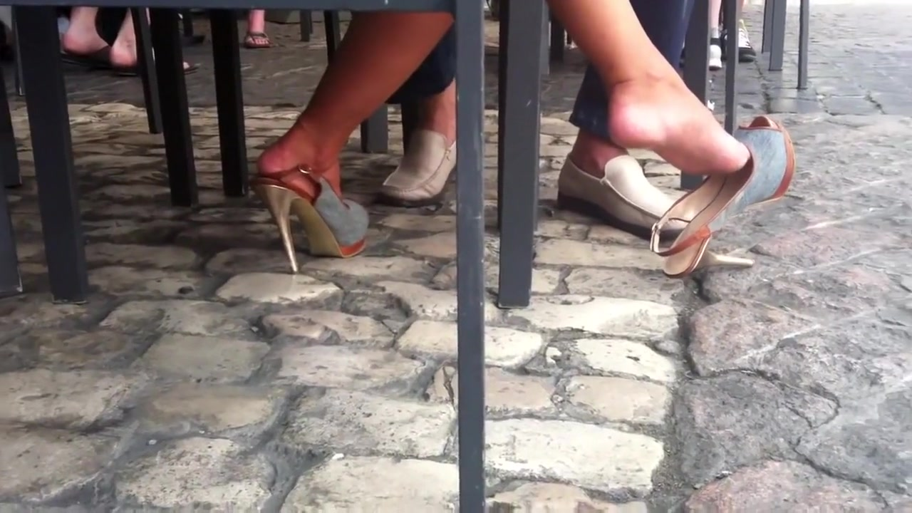 Candid Shoeplay Flip Flops