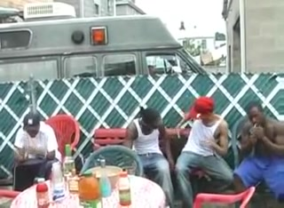Homo sex party in da hood :D black owned sissy slave