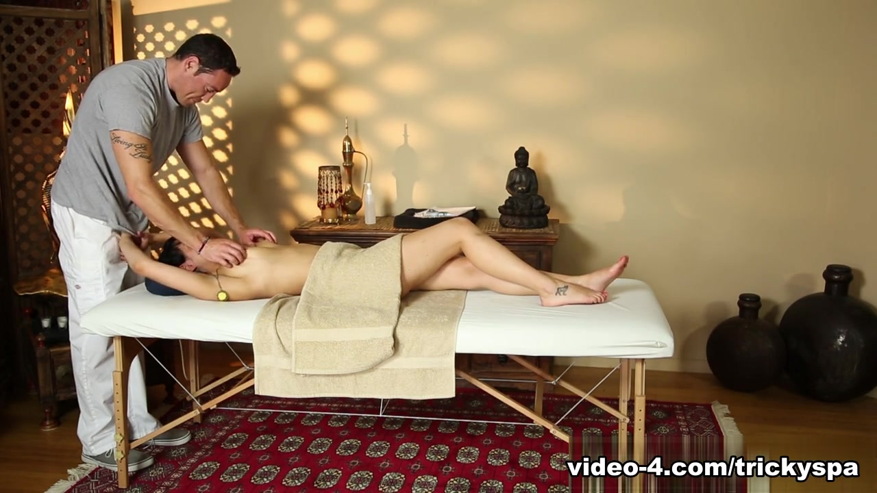 Charley Chase & Romeo Price in Undercover Masseuse Video Tits squeezed together gif
