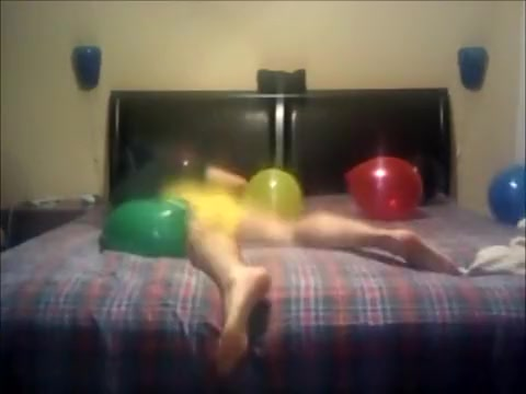 Humping and Popping Greater Quantity Balloons in my Underclothing! (E14) Pissing in her house