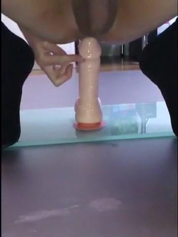 floor Natural tgirl pleasuring female pussy