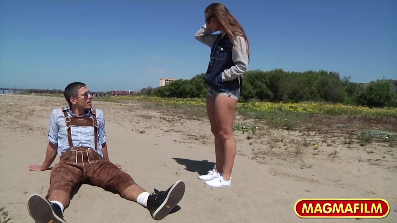 MAGMA FILM Picking up Cassidy Klein on the beach Nude sleeping beach girls