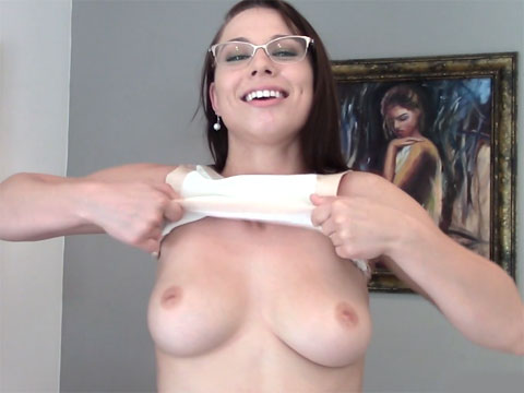 Young real estate agent gets with her wealthy client Redhead dildo porn gif