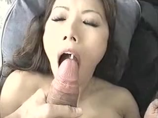 Asian Cutie Titfuck to Cum Drink