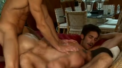 Mustached BFs invite friend for gay threesome Penelope cruz celebrity fakes