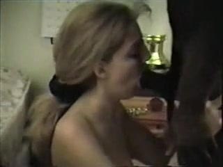 Big Boobed Golden-Haired Sweetheart Blows Her BF's Cock And Swallows His Cum