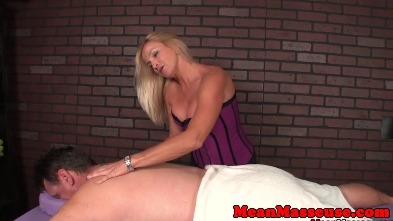 CBT masseuse spanking and flicking subs penis Lezley zen gangbang