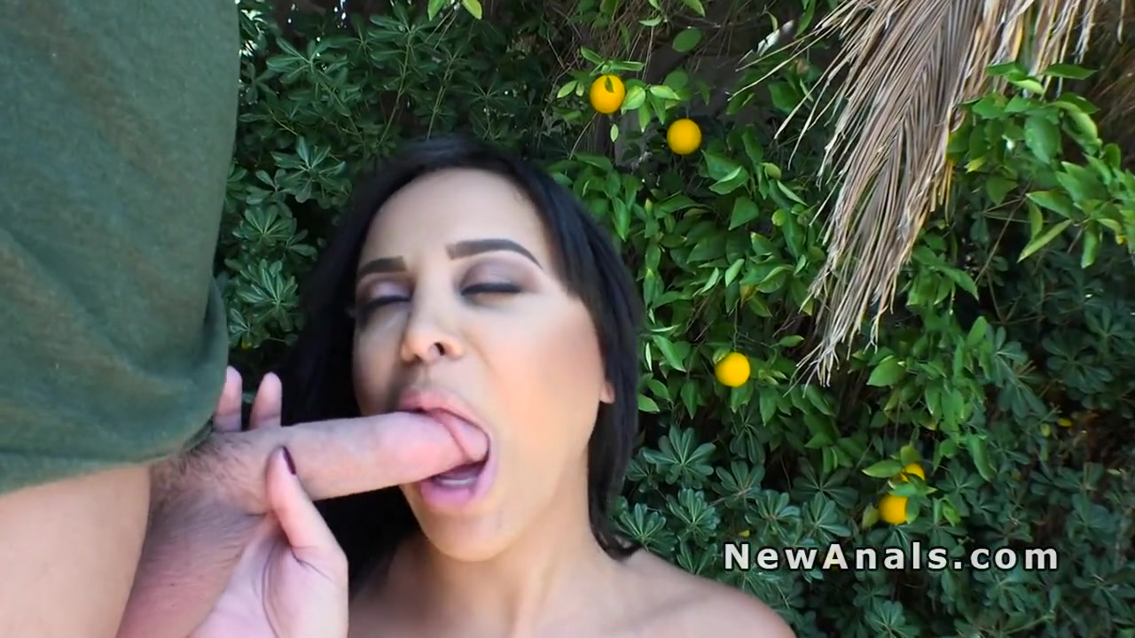 Huge tits Latina anal fucked in backyard High school girl having sex with a classmate