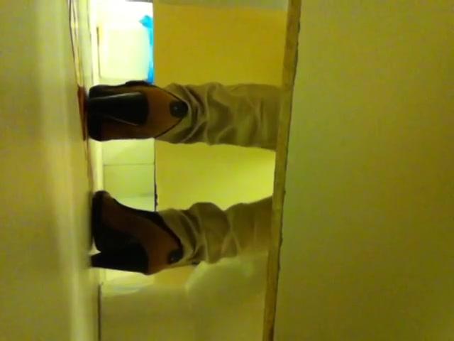 Hidden camera in a toilet shooting females taking a leak