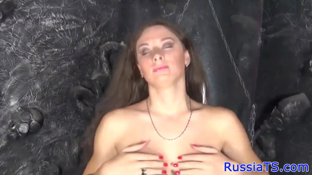 Solo Russian tgirl toying ass with dildo Why do men like to spank women