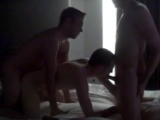Gay threesome fucking in a hotel old porn comedy video