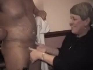 grandma giving a hand Nude c cup boobs