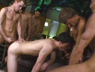 Euro twinks barebacking in a gang group-sex. lingerie syren de mer creampie threesome