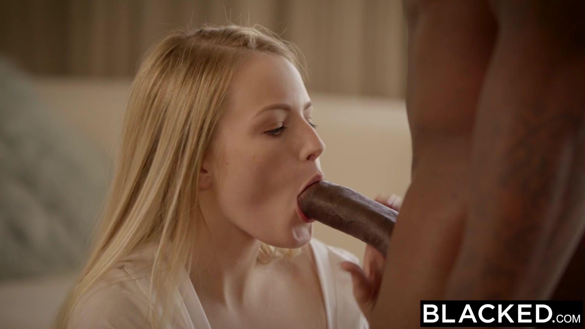 BLACKED First Big Black Cock For Blonde Scarlet Sage