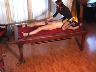 Smoking hot dominatrix punishes her male slave Kik f