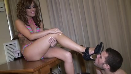 Femdom-Footworship Husband and wife decide to tape themselves fucking
